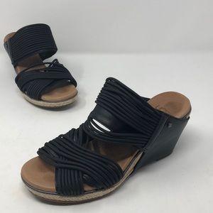 Ugg Black Slip-On Wedges Size 5